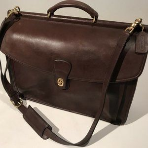 Coach Vintage 5266 Beekman Brown Leather Briefcase
